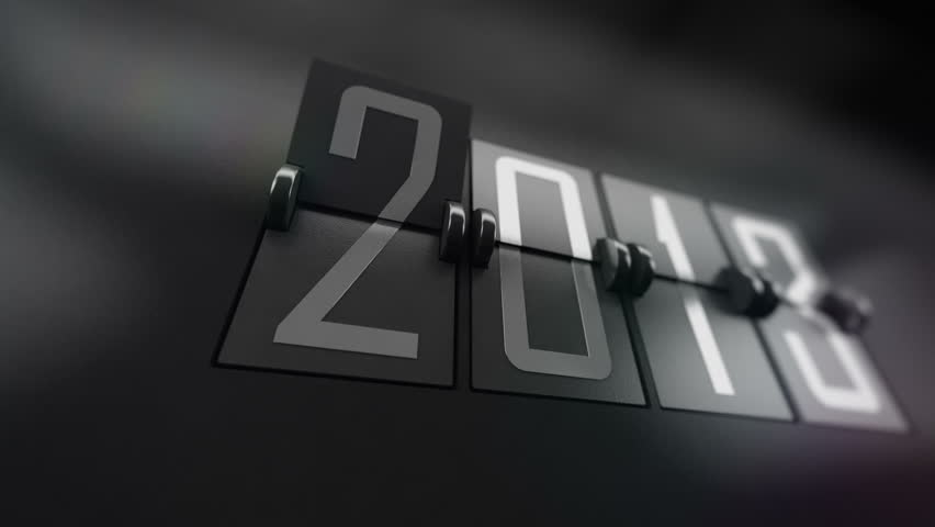 New Year 2014 Calendar with flipping pages. Calendar turning page from year 2013 to 2014   Shutterstock HD Video #4954028