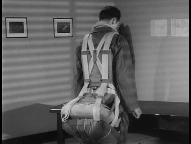 Stock Video Clip Of 1940s Self Inflating Life Rafts Are
