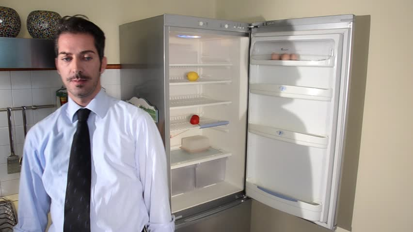 Image result for empty fridge man