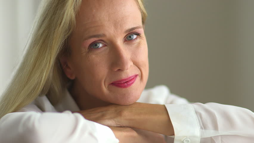 Middle Aged Woman Stock Footage Video  Shutterstock-5571