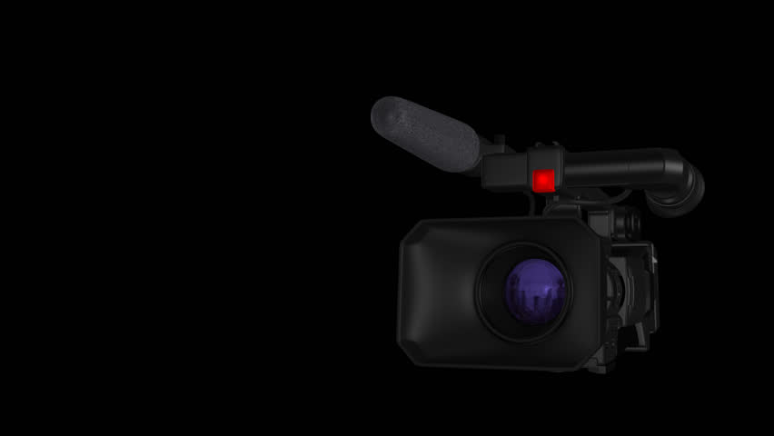Pro Video Camera I - News and Event Transition with City Reflection - 3D Model Animation - Alpha Channel