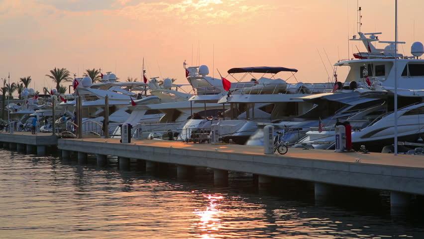 Yachts in Marina, Bodrum, Turkey