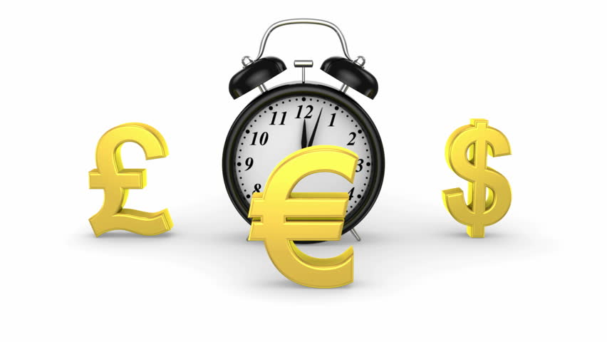 Time and Money. White background, 3 in 1, loop  | Shutterstock HD Video #5085203