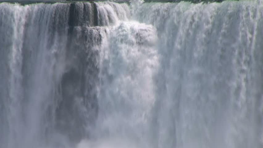 Power of falling water. Niagara Falls, Ontario, Canada.