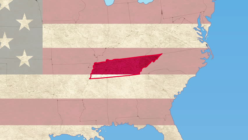 USA Map Tennessee Pull Out No Signs Or Letters So You Can Insert - Tennessee in usa map