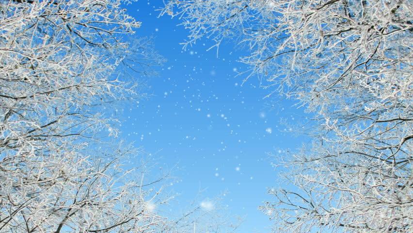 Winter scene loop animation