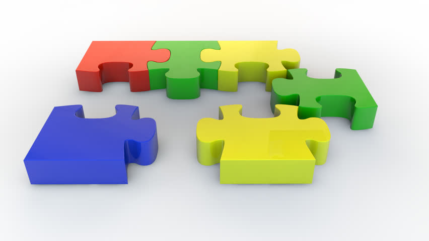 Teamwork To Success Puzzle