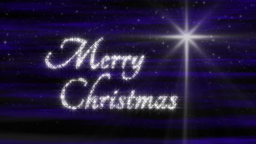 Perfectly Seamless Loop Features Sparkling Merry Christmas Text ...