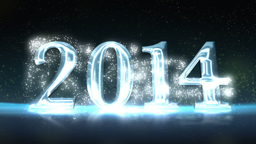 2014 New Year Celebration Background with the 3D numbers animating onto the screen   Shutterstock HD Video #5198030