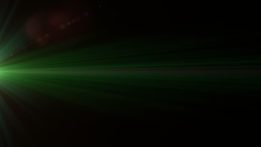Lens flare effect on black background (fast twinkling green)   Shutterstock HD Video #5216321