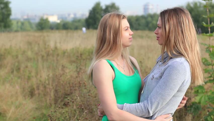 Lesbians outdoors