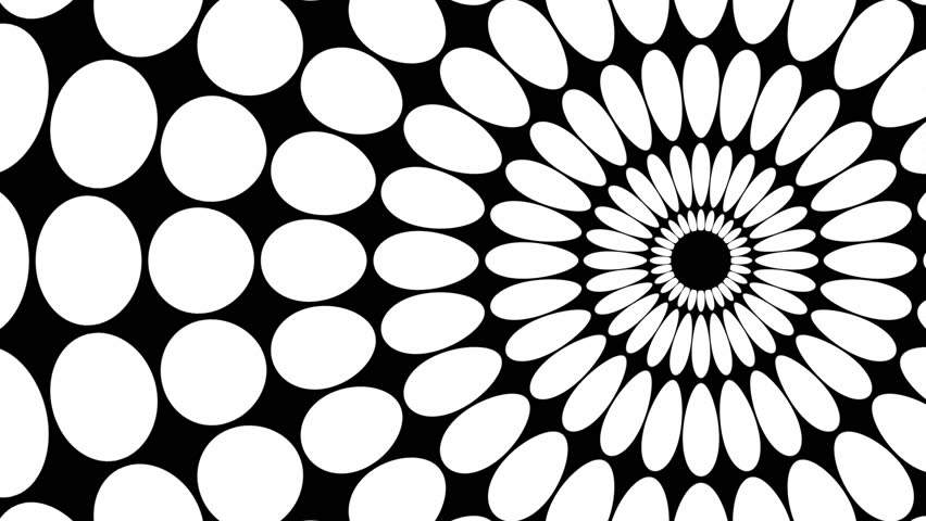 Stock Video Clip Of Op Art Dots Loop Moving White Dots