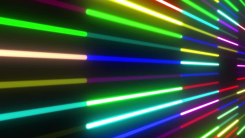 Neon Tube illumination wall abstract background. | Shutterstock HD Video #5311841
