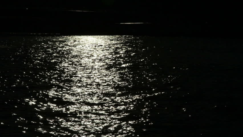 Stock video of a dark river with the sun | 5336321 ...
