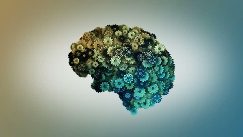 4K The Human Brain Structure Animation Illustration Stock ...