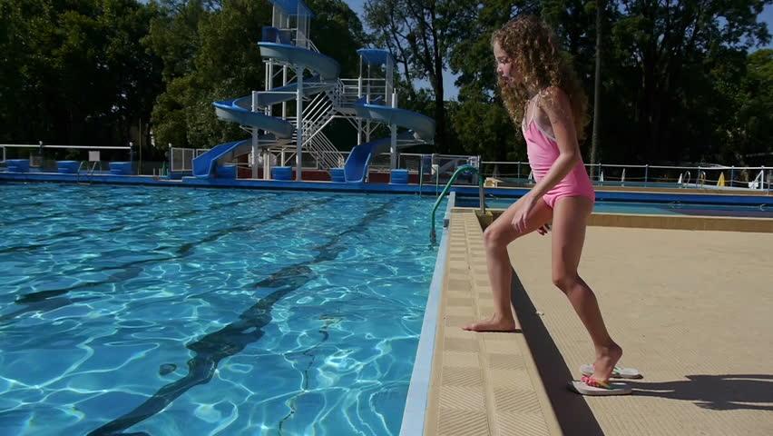 Girl Jumping and Diving in Video de stock (totalmente libre de regalías)  5362181 | Shutterstock