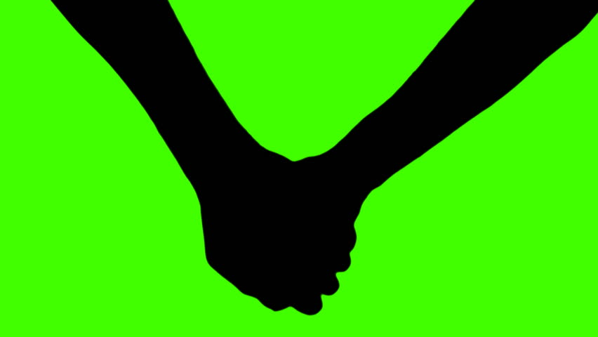 Holding hands silhouette - green | Shutterstock HD Video #537631