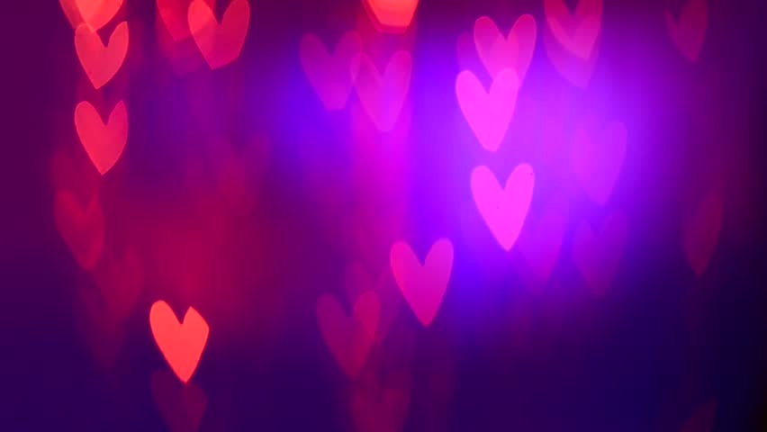 Valentines Day Background Holiday Blinking Stock Footage Video 100