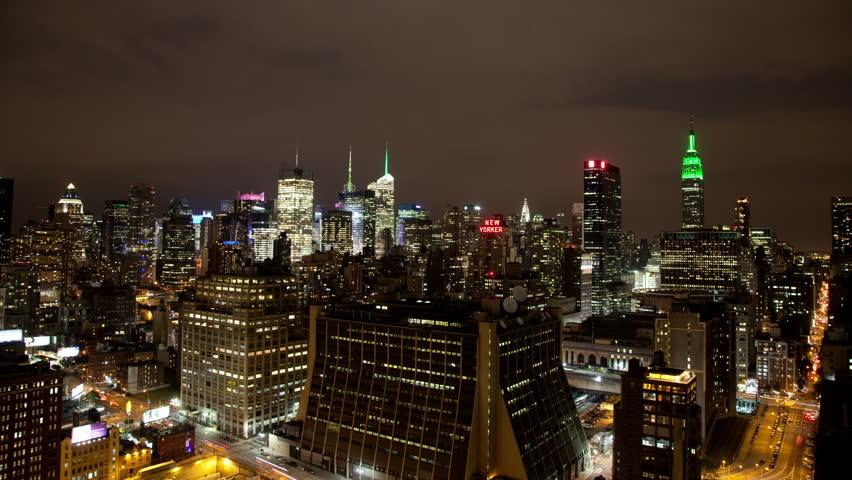Beautiful manhattan skyline time-lapse at night, nyc, super high quality, 4k resolution (4096x2304). | Shutterstock HD Video #5383226