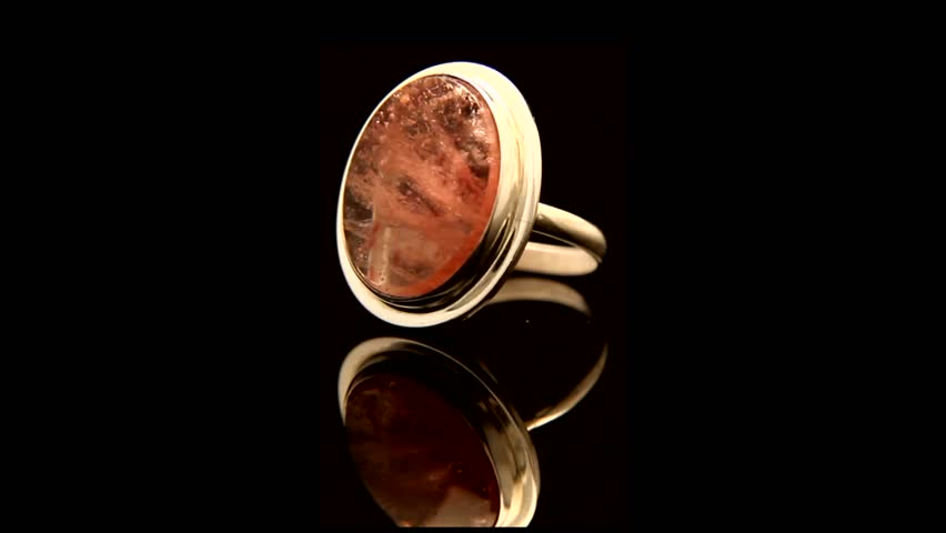 Gold Ring With A Stone Stock Footage Video