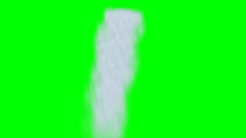 waterfall animation - green screen