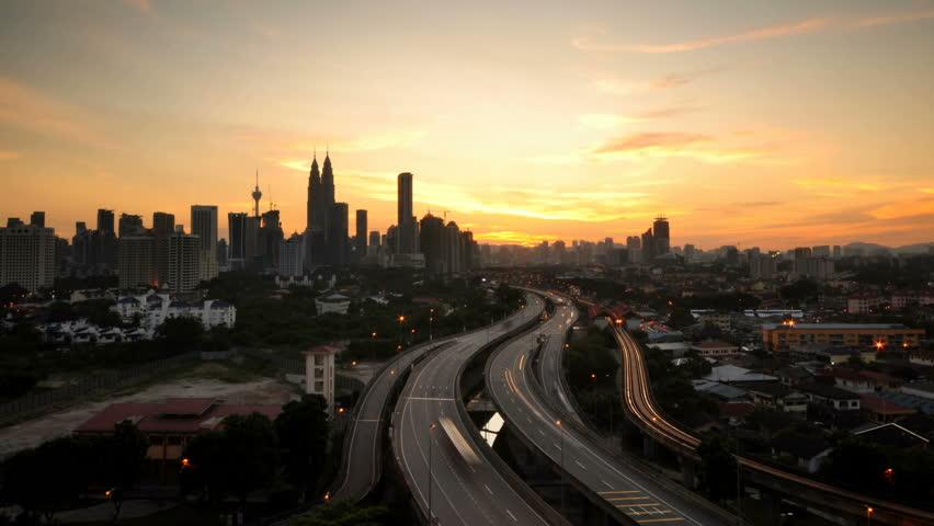 Night Time View Of Petronas Twin Towers In Kuala Lumpur -5257