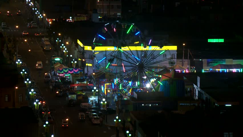 video footage of a Ferris wheel at night, Peru