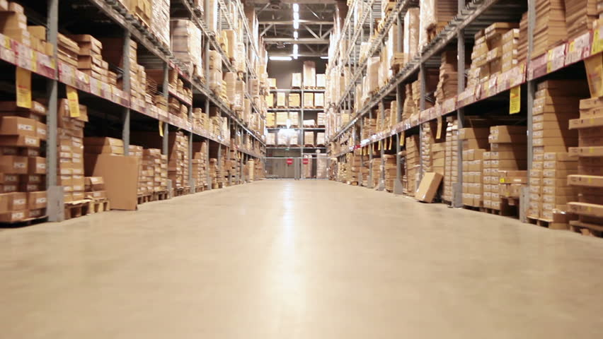Storehouse of goods in wholesale shop