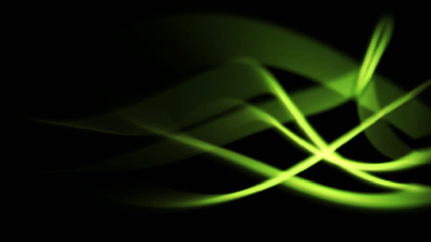 green energy background of abstract light rays in curved motion (FULL HD)