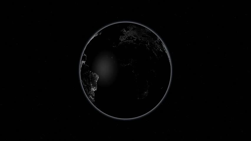 Rotation of the earth at night | Shutterstock HD Video #5563781