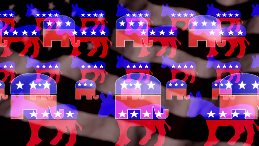 Stock Video Of Political Symbols American Flag In Black 28863574