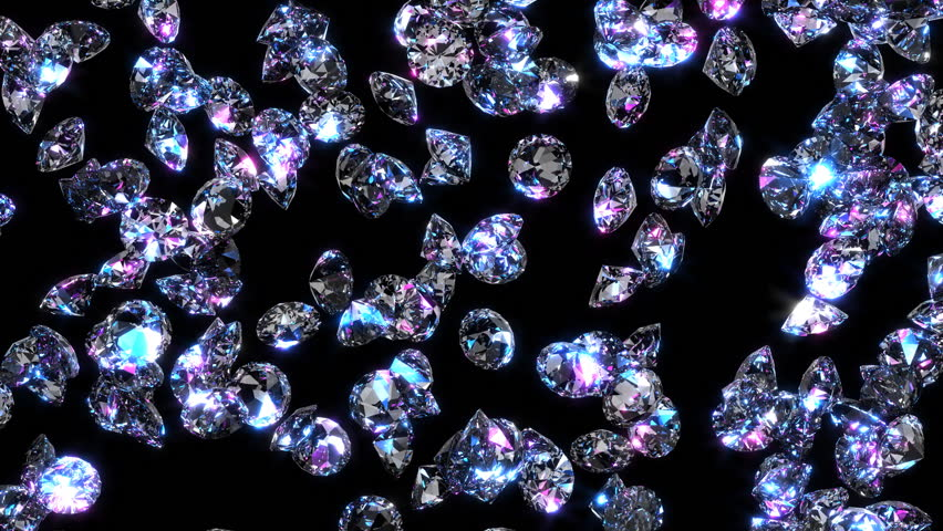 Diamonds Loopable Background Stock Footage Video 5652944