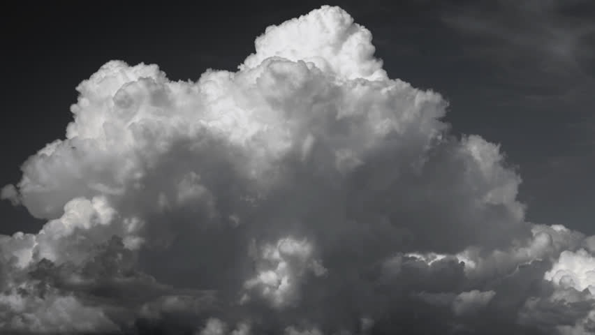 Sky clouds Time Lapse Black and White