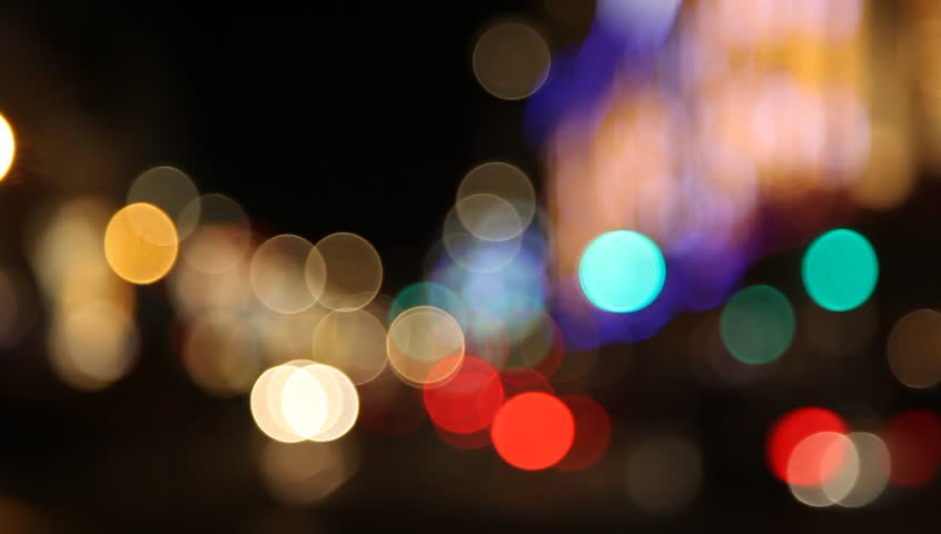 Clouds · Blurred City Lights With Tram ...