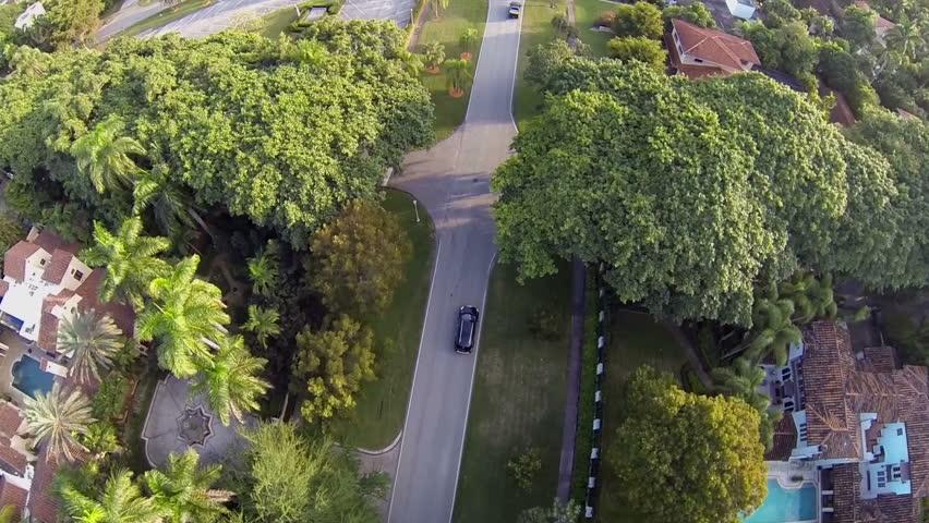 Neighborhood in historic Coral Gables, Florida.