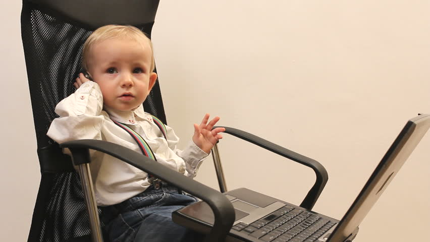 cute childs office chair. Little Businessman Kid With Laptop And Mobile On Office Chair Stock Footage Video 5601041 | Shutterstock Cute Childs E