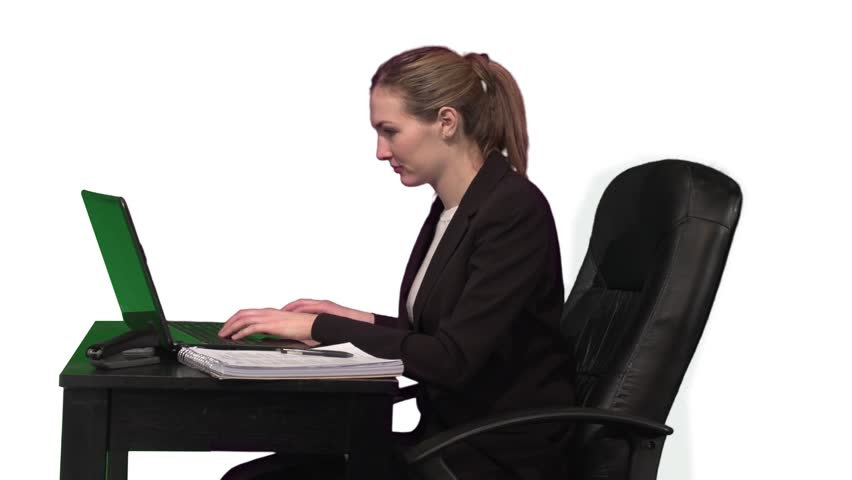 This clip features an overworked businesswoman.