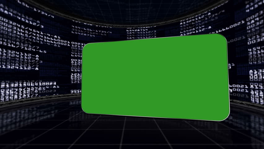 Green Screen Monitor in Numbers Room, with Alpha Channel   Shutterstock HD Video #5615891