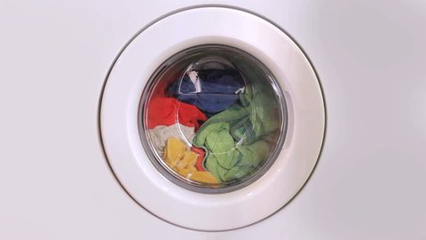 Washing machine turning - front view
