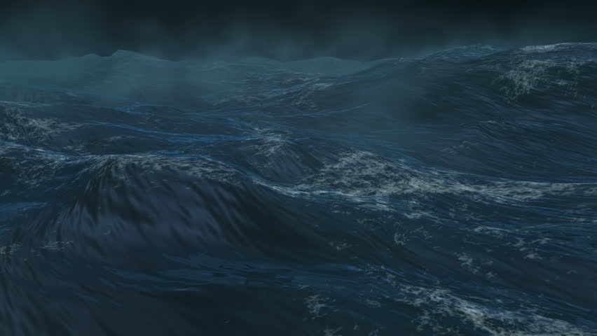 4K Giant ocean, sea storm, Loopable version. High quality rendering with high color depth and motion blur.
