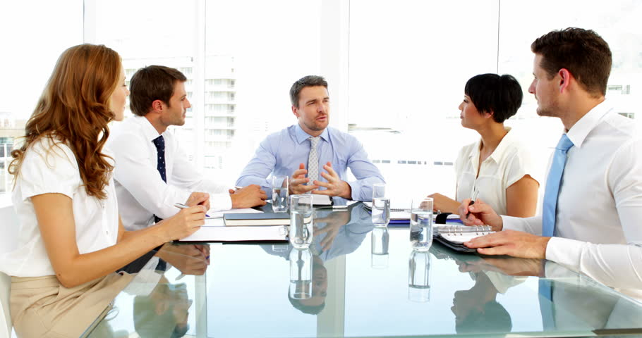 the office the meeting. Business People Taking Notes During Meeting In The Office Stock Footage Video 5658401 | Shutterstock 2
