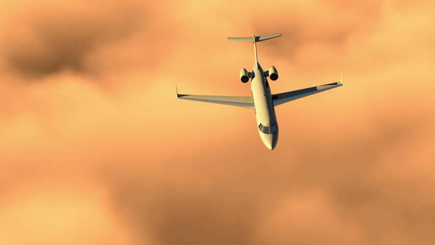Alpha channel corporate jet, business travel