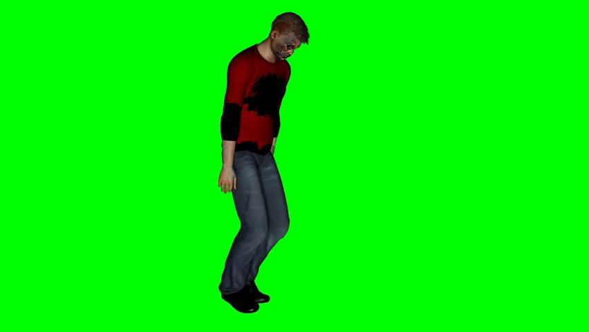Zombie goes - green screen    Shutterstock HD Video #5698178