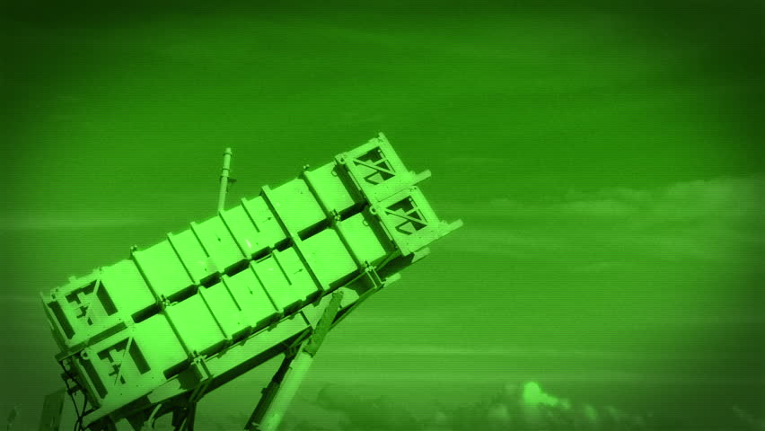 Night Vision, Slow Motion, Patriot-type Multiple Missile Launch Vehicle