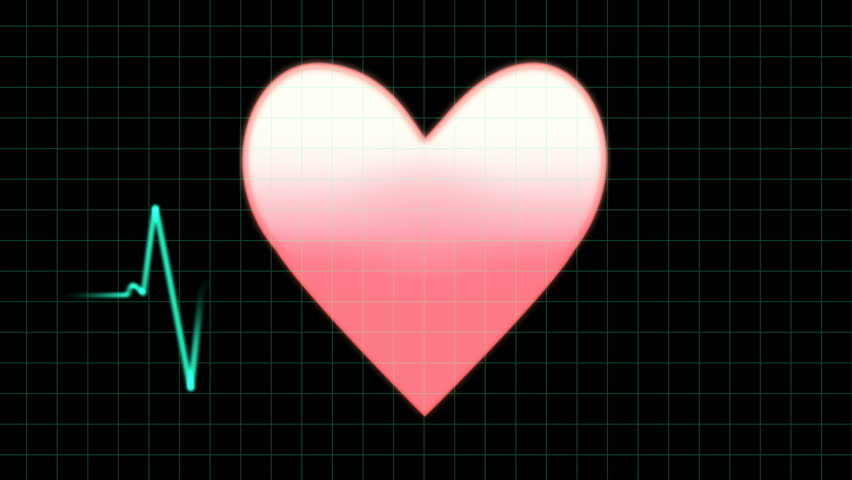 EKG heartbeat monitor, animation