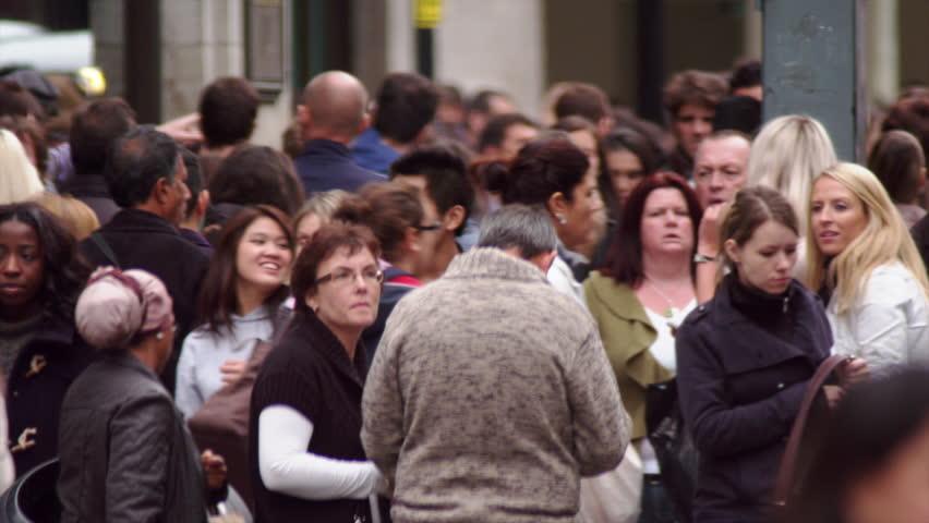 LONDON, UK - OCTOBER 8, 2011: Slow motion of Oxford Street. | Shutterstock HD Video #5788070