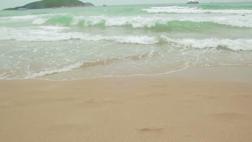 Beach view. China, Hainan