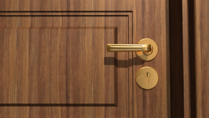 Key Unlocking Lock And Door Opening Transitional Animated