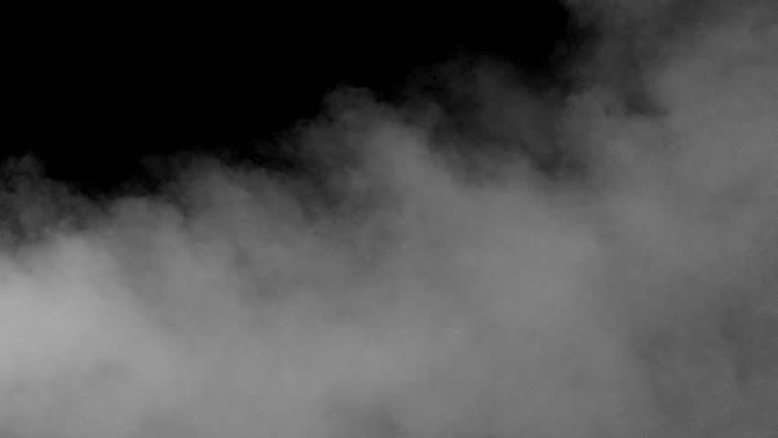 Jet Smoke. Horizontal flow of smoke at the lower edge of the frame on a black background. Motion at a rate of 240 fps | Shutterstock HD Video #5893421