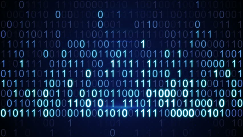 Digital binary data scan loop background